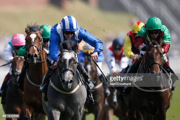 Jim Crowley riding Mutawatheb win The Boodles Diamond Handicap Stakes at Chester Racecourse on May 11 2017 in Chester England