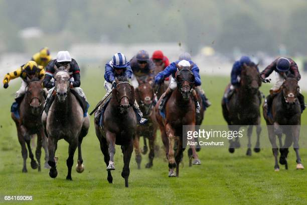 Jim Crowley riding Tasleet win The Duke Of York Clipper Logistics Stakes at York racecourse on May 17 2017 in York England