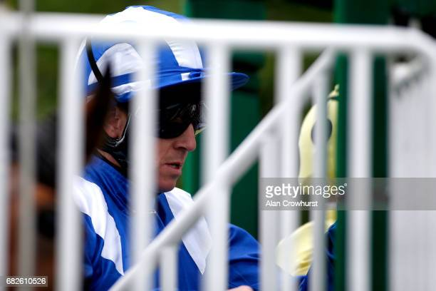 Jim Crowley waits in the stalls at Ascot Racecourse on May 13 2017 in Ascot England