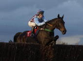 Jim Culloty and Best Mate in action whilst on there way to landing The Peterborough Steeple Chase Race run at Huntingdon Racecourse on November 23...