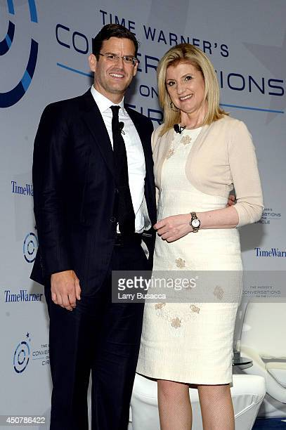 Jim Cummings and Arianna Huffington attend Time Warner's Conversations On The Circle with Arianna Huffington moderated by Time Warner's SVP Global...