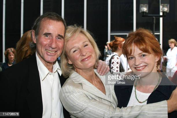 Jim Dale Glenn Close and Blair Brown during 60th Annual Tony Awards Reunion Photo Luncheon June 1 2006 at Sardi's in New York City New York United...