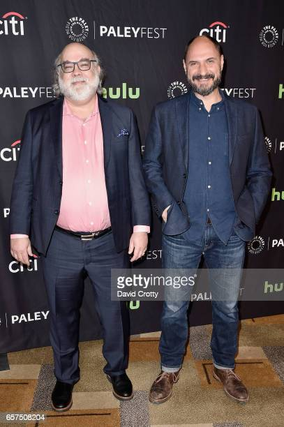 Jim Dauterive and Loren Bouchard attend PaleyFest Los Angeles 2017 'Bob's Burgers' at Dolby Theatre on March 24 2017 in Hollywood California