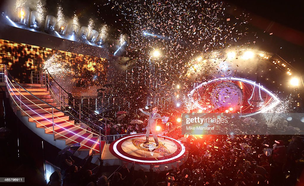 Jim Davidson is announced as winner of Celebrity Big Brother at Elstree Studios on January 29 2014 in Borehamwood England
