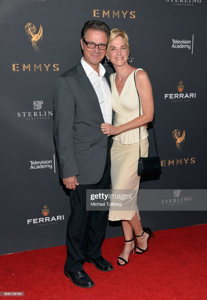 Jim DePaiva and actress Kassie DePaiva attend the Television Academy's cocktail reception with stars of daytime television celebrating the 69th Emmy Awards at Saban Media Center on August 23, 2017 in North Hollywood, California.