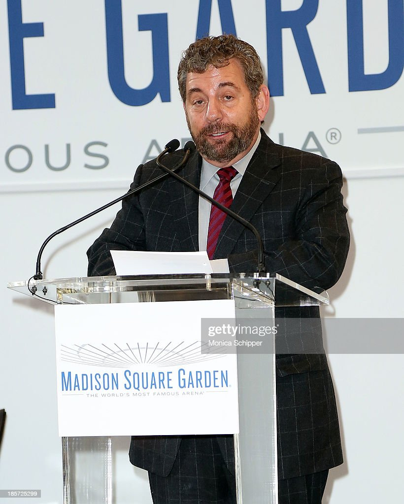 Jim Dolan attends the unveiling of Madison Square Garden on October 24, 2013 in New York City.