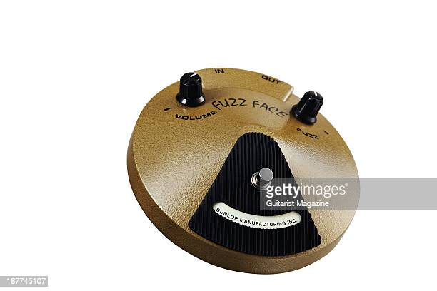 A Jim Dunlop Fuzz Face EJF1 Eric Johnson electric guitar effects pedal photographed during a shoot for Guitarist Magazine September 12 2012