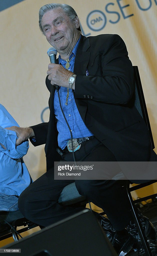 Jim Ed Brown appears at CMA Close Up Stage: 70's Heritage Panel at Music City Convention Center on June 6, 2013 in Nashville, Tennessee.