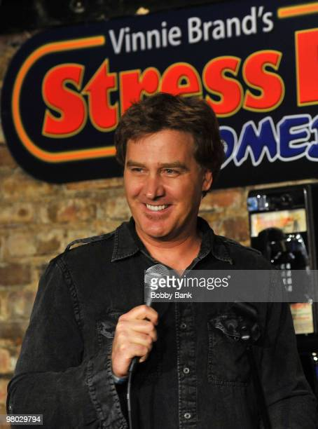 Jim Florentine performs at the Jonathan Dayton HS Project Gradation Benefit show at The Stress Factory Comedy Club on March 24 2010 in New Brunswick...