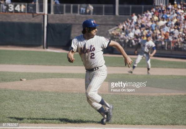 Jim Fregosi of the New York Mets is caught in a rundown between third and home at Shea Stadium in Flushing New York circa 1970's
