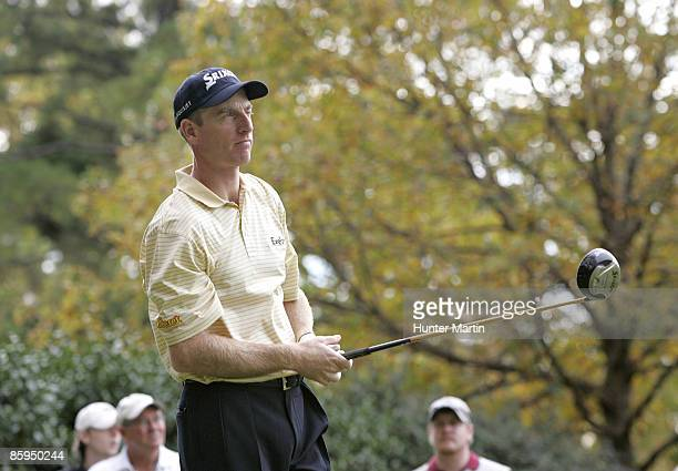 Jim Furyk hits his driver with a graphite UST golf shaft during his practice round for THE TOUR Championship on Tuesday October 31st 2006 at East...