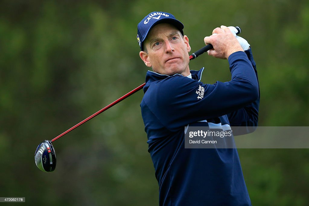 <a gi-track='captionPersonalityLinkClicked' href=/galleries/search?phrase=Jim+Furyk&family=editorial&specificpeople=202579 ng-click='$event.stopPropagation()'>Jim Furyk</a> hits his tee shot on the fourth hole during his semi final match in the World Golf Championships Cadillac Match Play at TPC Harding Park on May 3, 2015 in San Francisco, California.
