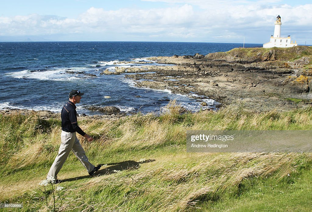 Jim Furyk of USA walks up the 9th hole during the final round of the 138th Open Championship on the Ailsa Course Turnberry Golf Club on July 19 2009...