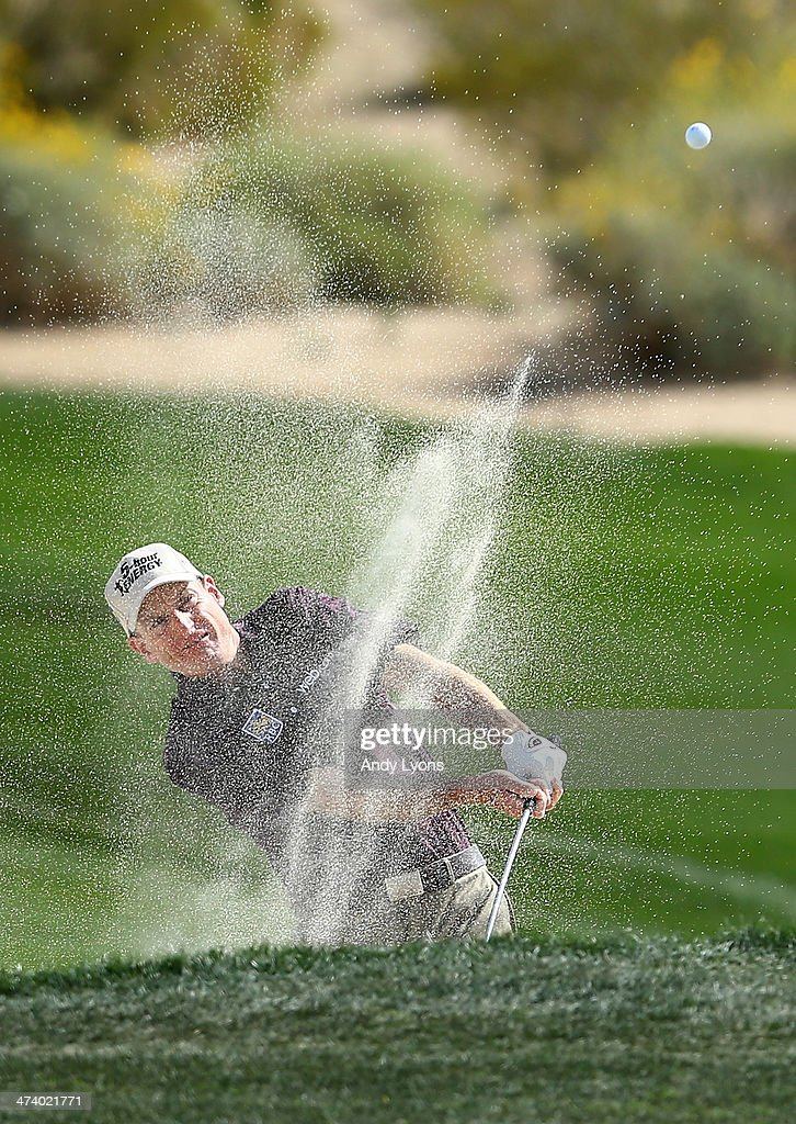 Jim Furyk plays his second shot on the second hole during the third round of the World Golf Championships Accenture Match Play Championship at The...