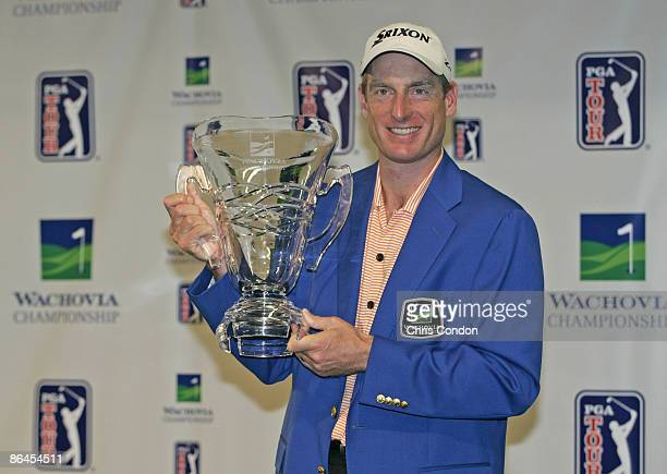 Jim Furyk wins the Wachovia Championship at Quail Hollow Club in Charlotte North Carolina on May 7 2006