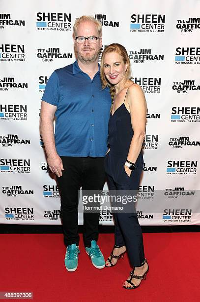 Jim Gaffigan and Jeanine Gaffigan attend The Sheen Center's grand opening festival presents 'An Evening with Jeanine and JIm Gaffigan' at Sheen...