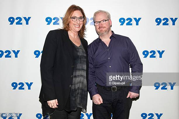 Jim Gaffigan and Judy Gold attend 92nd Street Y Presents Jim Gaffigan In Conversation With Judy Gold at 92nd Street Y on January 27 2015 in New York...