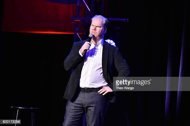 Jim Gaffigan performs on stage during 10th Annual Stand Up For Heroes at The Theater at Madison Square Garden on November 1 2016 in New York City