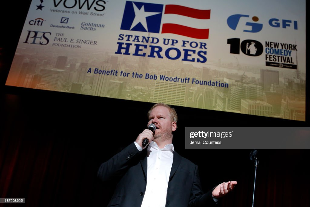 Jim Gaffigan performs the 7th annual 'Stand Up For Heroes' event at Madison Square Garden on November 6, 2013 in New York City.