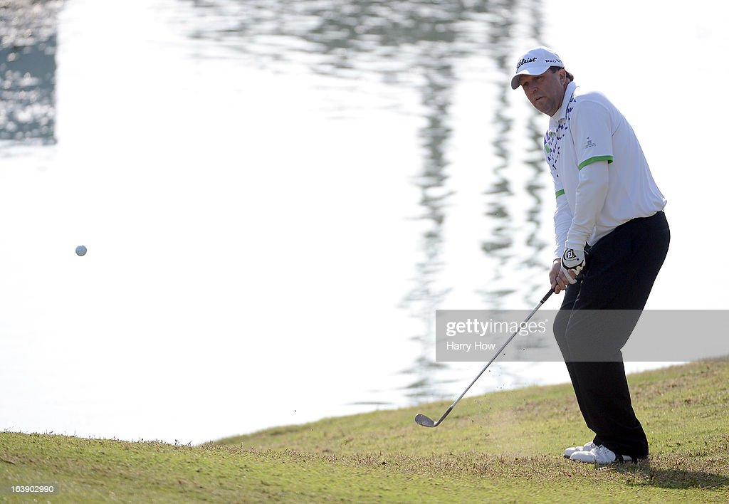 Jim Gallagher Jr. chips from the rough on the 17th hole during the final round of the Toshiba Classic at the Newport Beach Country Club on March 17, 2013 in Newport Beach, California.