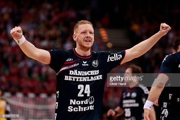 Jim Gottfridsson of Flensburg during the DKB REWE Final Four Finale 2016 between SG Flensburg Handewitt and SC Magdeburg at Barclaycard Arena on May...