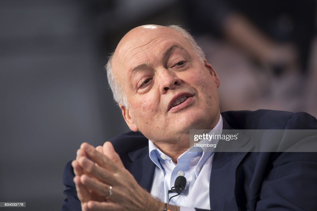 Jim Hackett, president and chief executive officer of Ford Motor Co., speaks during the Ford Motor Co. City Of Tomorrow Symposium in San Francisco, California, U.S., on Thursday, Aug. 17, 2017. The symposium is a series of conversations and workshops with leaders in technology, design and the public sector, dedicated to exploring challenges, opportunities and emerging solutions that will shape the future of cities. Photographer: David Paul Morris/Bloomberg via Getty Images