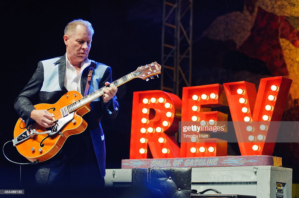 Jim Heath aka Reverend Horton Heat performs on day three of the Bumbershoot Music and Arts Festival on September 1, 2014 in Seattle, Washington.