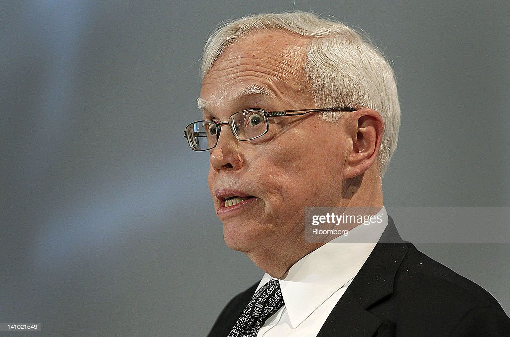 Jim Heckman, nobel laureate in economics and Henry Schultz distinguished service professor in the department of economics at the University of Chicago, speaks at the Stanford Institute for Economic Policy Research (SIEPR) 2012 Economic Summit in Stanford, California, U.S., on Friday, March 8, 2012. The Stanford Institute for Economic Policy Research (SIEPR) is a nonpartisan economic policy research organization that unites economic talent from all parts of Stanford University. Photographer: Tony Avelar/Bloomberg via Getty Images