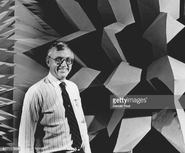 Jim Hembd facility manager at Ball aerospace Division in the Anachoic soundproof chamber used to test space antaneas Credit The Denver Post