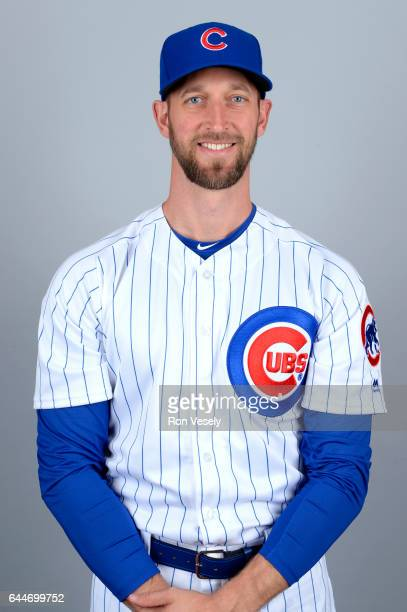 Jim Henderson of the Chicago Cubs poses during Photo Day on Tuesday February 21 2017 at Sloan Park in Mesa Arizona