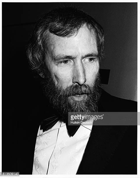 Jim Henson the American puppeteer and creator of the the 'Muppets' and Sesame Street attends the 1985 British Academy of Film and Television Arts...