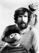 Jim Henson with two of his 'Muppets' puppets Kermit The Frog and Ernie from 'Sesame Street'