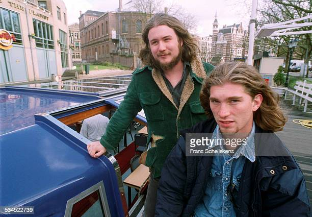 Jim James and John Quaid of My Morning Jacket pose on February 22th 2001 in Amsterdam Netherlands