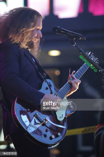 Jim James and the band My Morning Jacket perform during CBGB Music Film Festival 2013 at Times Square on October 12 2013 in New York City