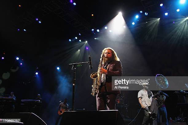 Jim James of My Morning Jacket and The Roots perform at 'State of the Union An Evening of Collaborative Performances' to benefit Celebrate Brooklyn...