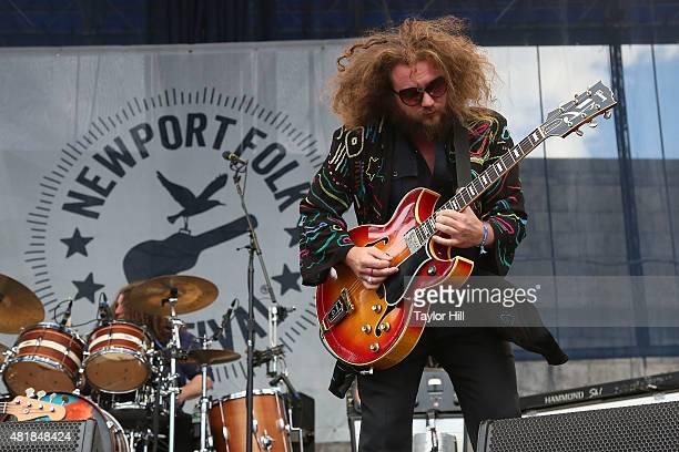 Jim James of My Morning Jacket as they perform a surprise show during the 2015 Newport Folk Festival at Fort Adams State Park on July 24 2015 in...