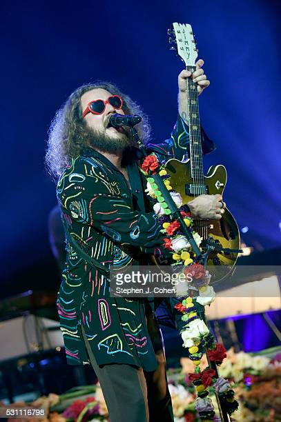Jim James of My Morning Jacket performs at Iroquois Amphitheater on May 12 2016 in Louisville Kentucky