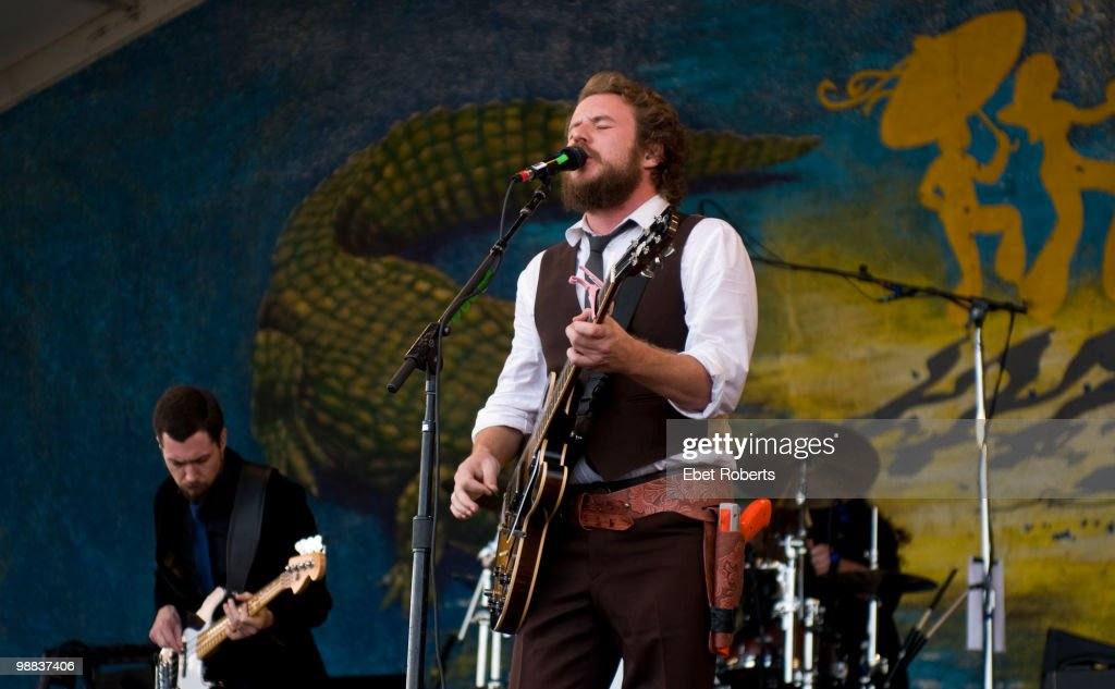 Jim James of My Morning Jacket performs at the New Orleans Jazz & Heritage Festival on April 24, 2010 in New Orleans, Louisiana.