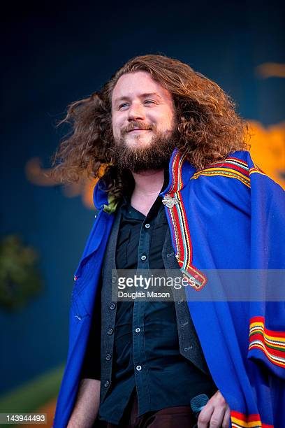 Jim James of My Morning Jacket performs during the 2012 New Orleans Jazz Heritage Festival at the Fair Grounds Race Course on May 5 2012 in New...