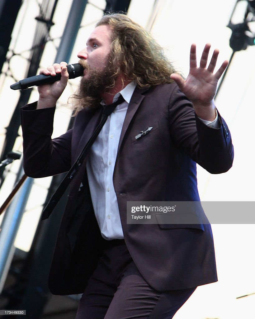 <a gi-track='captionPersonalityLinkClicked' href=/galleries/search?phrase=Jim+James&family=editorial&specificpeople=563700 ng-click='$event.stopPropagation()'>Jim James</a> of My Morning Jacket performs during the 2013 Forecastle Festival at Waterfront Park on July 13, 2013 in Louisville, Kentucky.