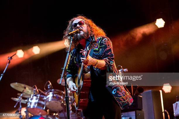 Jim James of My Morning Jacket performs during the Bonnaroo Music Arts Festival on June 13 2015 in Manchester Tennessee