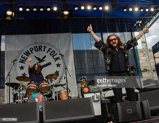 Jim James of My Morning Jacket performs during the Newport Folk Festival 2015 at Fort Adams State Park on July 24 2015 in Newport Rhode Island