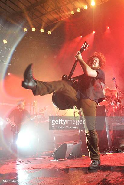 Jim James of My Morning Jacket performs on stage during Bonnaroo 2008 on June 13 2008 in Manchester Tennessee