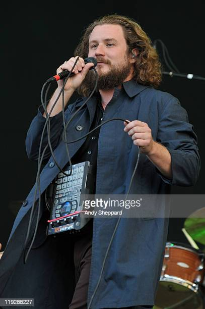 Jim James of My Morning Jacket performs on stage during the second day of Latitude Festival 2011 at Henham Park Estate on July 16 2011 in Southwold...