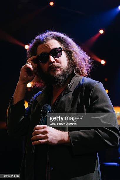 Jim James performs during 'The Late Late Show with James Corden' Tuesday January 17 2017 On The CBS Television Network