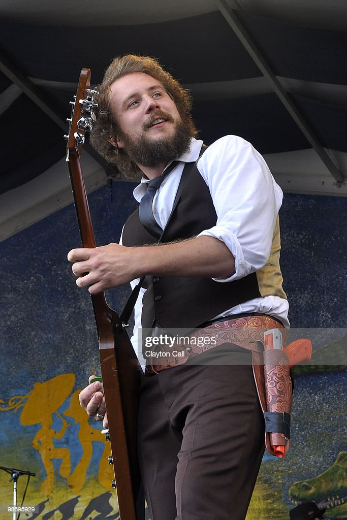 Jim James performs with My Morning Jacket at the Gentilly Stage on day two of New Orleans Jazz & Heritage Festival on April 24, 2010 in New Orleans, Louisiana.