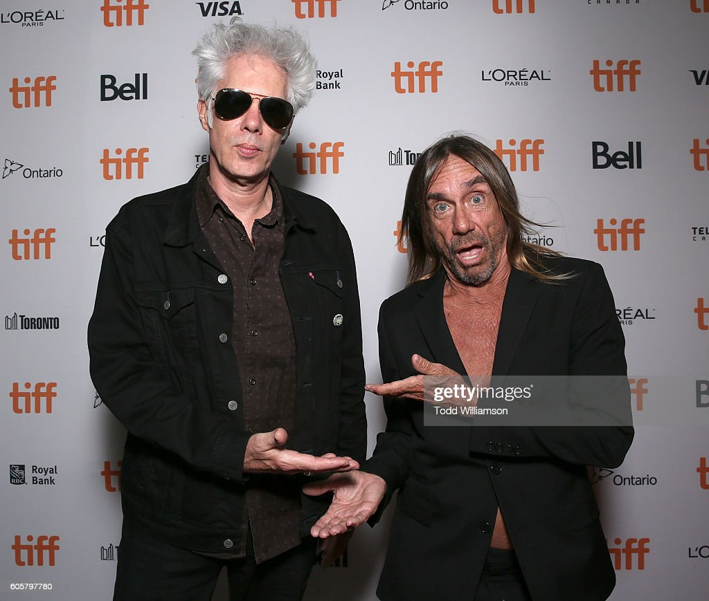 Jim Jarmusch and Iggy Pop attend the Premiere of Amazon Studios' 'Gimme Danger' at the Toronto International Film Festival at Ryerson Theatre on September 14, 2016 in Toronto, Canada.