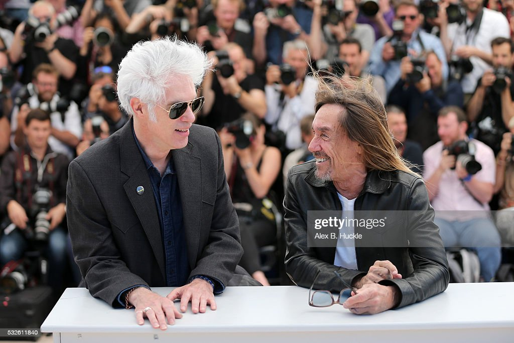 Jim Jarmusch and Iggy Pop attends the 'Gimme Danger' photocall during the 69th annual Cannes Film Festival at Palais des Festivals on May 19, 2016 in Cannes, France.
