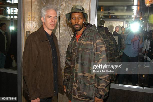 Jim Jarmusch and Rza attend THE CINEMA SOCIETY GUERLAIN present a screening of THE BLACK DAHLIA Afterparty at The Soho Grand Penthouse on September...
