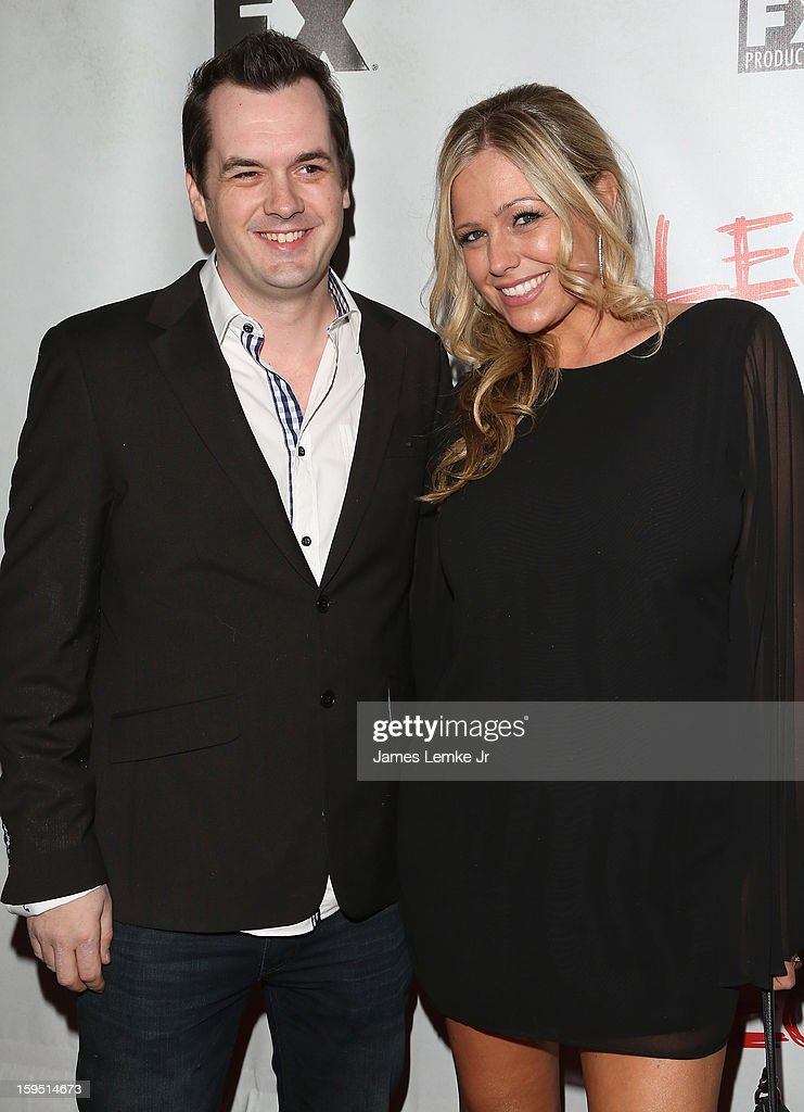 Jim Jefferies and Kate Luyben attend the FX's New Comedy Series 'Legit' Premiere Screening held at the Fox Studio Lot on January 14, 2013 in Century City, California.